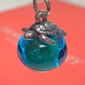 NEW James Avery Turtle finial glass charm